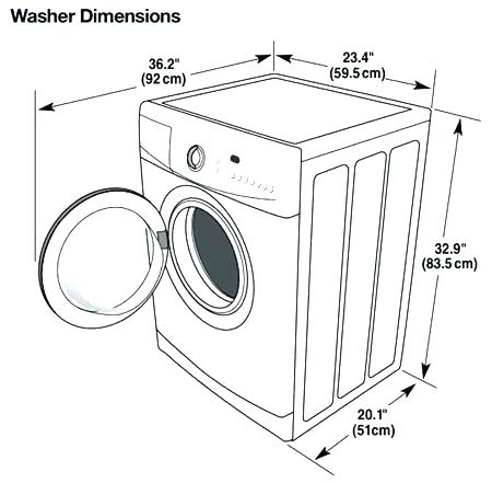 washing machine dimensions